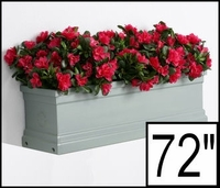 72in. Slate Grey Supreme Fiberglass Window Box