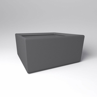 "72"" Square x 36""H Naples Square Planter"