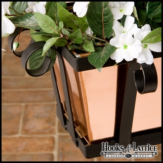 "72"" Venetian Decora Window Box w/ Real Copper Liner"