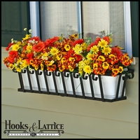 72in. Venetian Decora Window Box w/ (2) Vinyl Liners