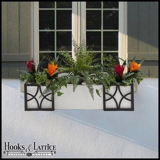 "48"" Window Box Recipe - Artificial Tropical Flowers"