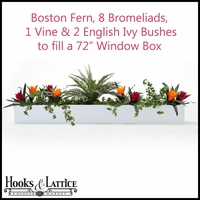 "72"" Window Box Recipe - Artificial Tropical Flowers"