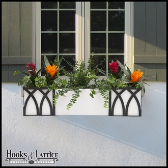 "60"" Window Box Recipe - Buckler Fern and Ivy"