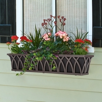 48in. Arch Decora Window Box w/ Black Galvanized Liner