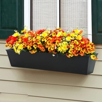 36in. Galvanized Window Box- Black Tone