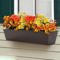 72in. Galvanized Window Box- Bronze Tone