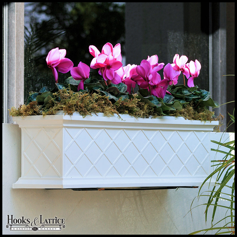 la fleur self watering fiberglass window box planters. Black Bedroom Furniture Sets. Home Design Ideas