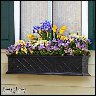 72in. La Fleur Self-Watering Fiberglass Window Box Planter