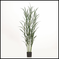 72in. Pampas Grass Cluster in Weighted Base, Indoor Rated