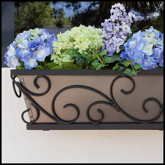 36in. Regalia Decora Window Box w/ Bronze Galvanized Liner
