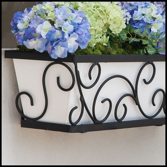 36in. Regalia Decora Window Box with White Galvanized Liner