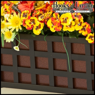 72in. Santiago Decora Window Box w/ Textured Bronze Liner (Leather Grain Finish)