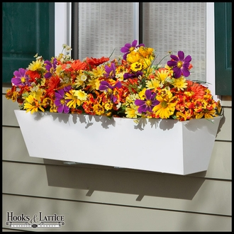 24in. Tapered PVC Window Box - White