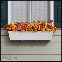 54in. Tapered PVC Window Box - White