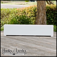 72in. Urban-Chic Premier Deck Planter w/ Feet 12in. W x 12in. H