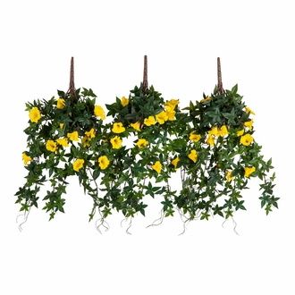 36in. Window Box Recipe - Outdoor Artificial Morning Glory Vines