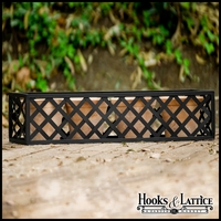 72in. Woven Iron Window & Garden Planter