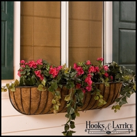 24in. XL Carolina Window Box w/ XL Coco Liner
