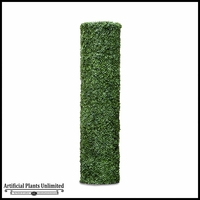 72inH Boxwood Cylinder Pillar Topiary, Fire Retardant