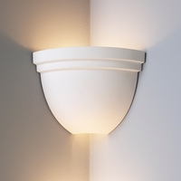 "8.5""  Corner Bowl Sconce w/ Double Edge Rim"