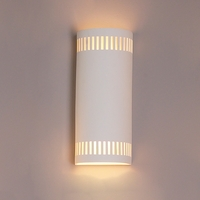 "8.5"" Cylinder Sconce w/ Contemporary Eyelet Pattern"
