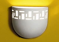 "8.5"" Tumbler Wall Sconce w/ Geometric Border"