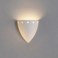 "8.75"" Inverted Cone Sconce w/ Contemporary Cut Out Border"