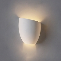 "8"" Asymmetrical Tumbler Ceramic Bowl Sconce- Slanted Right"