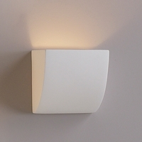 "8""  Gently Sloped Contemporary Sconce"