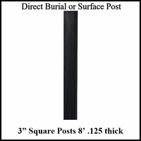 8' Square Aluminum Post