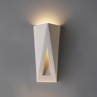 "8"" Topsy-Turvy Triangles Contemporary Sconce"