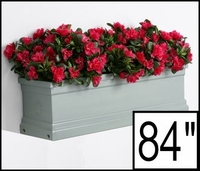 "84"" Slate Grey Supreme Fiberglass Window Box"