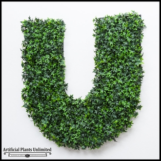 36in.H Living Wall Letter, Outdoor