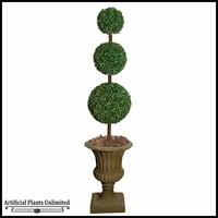 84in. Indoor Boxwood Topiary - Three Tiers