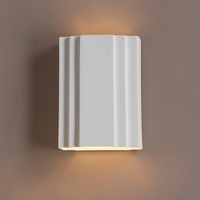 "9.5"" Block Sconce w/ Front Step Detail"