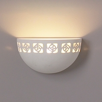 "9.5""  Ceramic Bowl Sconce w/ Abstract Pattern"