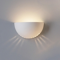 "9.5"" Deep Bowl Sconce w/ Bottom Light Squares"