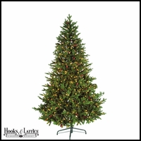 7.5 ft Finland Pre-Lit Fir Artificial Christmas Tree w/ Warm White LED Lights