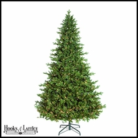 9 ft Finland Pre-Lit Fir Artificial Christmas Tree w/ Warm White LED Lights