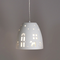 "9.5"" Home Sweet Home Ceramic Pendant Light"