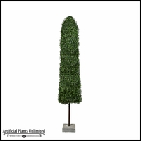 9' Boxwood Obelisk Topiary with Concrete Base - Outdoor