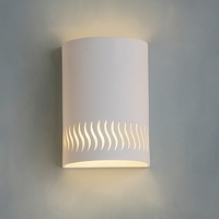 "9"" Ceramic Cylinder Sconce w/ Dancing Lines"