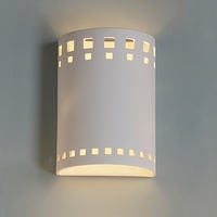 "9"" Contemporary Block Pattern Cylinder Sconce"