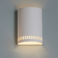 "9""  Contemporary Cylinder Sconce w/ Block Pattern"