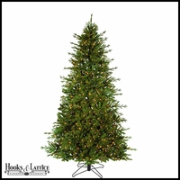 9 ft Caroline Pre-Lit Fir Artificial Christmas Tree w/ Warm White LED Lights