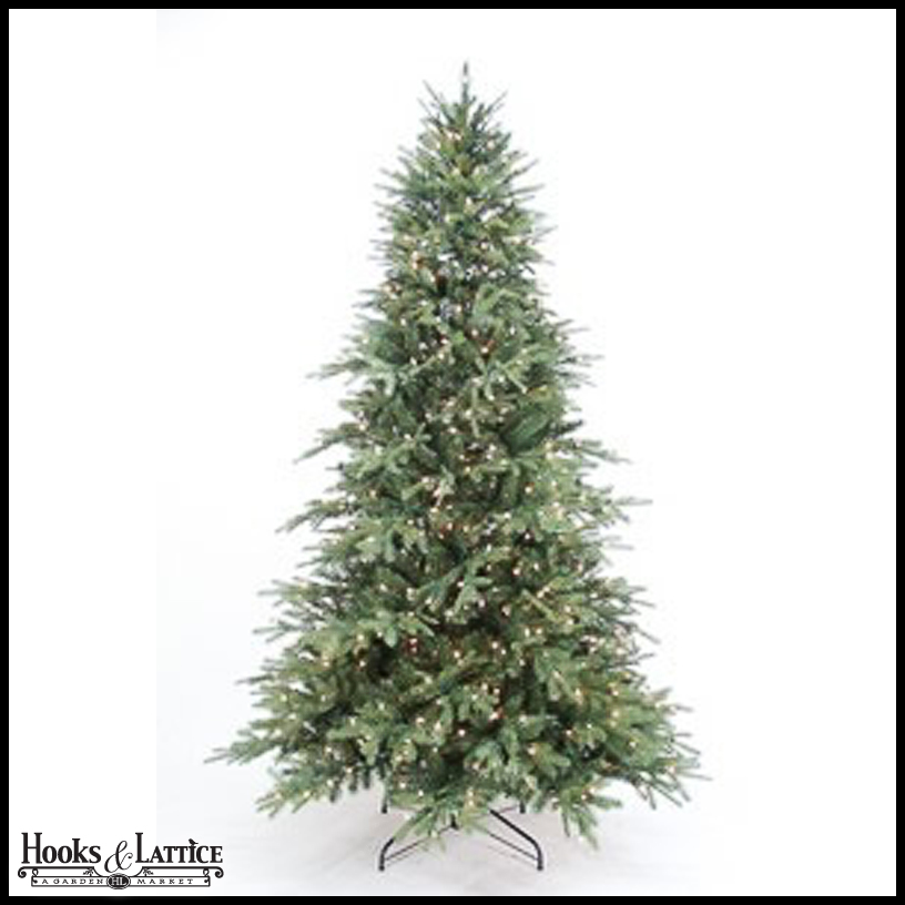 9 ft sugar spruce pre lit artificial christmas tree w warm white led lights. Black Bedroom Furniture Sets. Home Design Ideas
