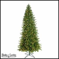 9 ft Sugar Spruce Pre-Lit Artificial Christmas Tree w/ Warm White LED Lights
