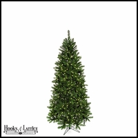 7.5 ft Monroe Pre-Lit Pine Artificial Christmas Tree w/ Clear LED Lights