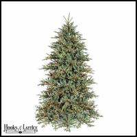 9 ft Frost Mini Pre-Lit Fir Artificial Christmas Tree w/ Clear Lights
