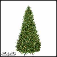 9 ft Kennedy Pre-Lit Fir Artificial Christmas Tree w/ Warm White LED Lights